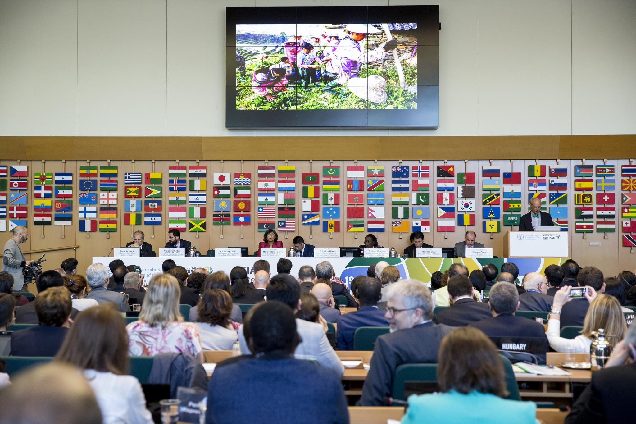 19 April 2018, Rome, Italy — Globally Important Agricultural Heritage Systems (GIAHS) International Forum and Certificate Award Ceremony, (Green Room), FAO Headquarters