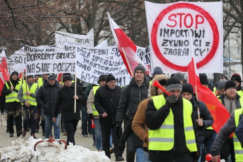 Фермери Польщі вийшли на центральні вулиці столиці з протестом
