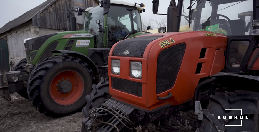 Трактори Fendt 720 та Belarus 952.4