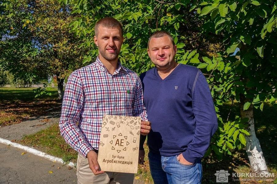 Костянтин Супрун (справа) та Микола Байбарак (зліва), співласники агрофірми «Санті»