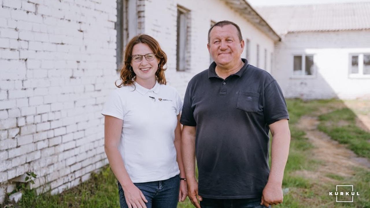 Леонід Центило, директора «Агрофірми «Колос» та Катерина Капустіна, журналіст Kurkul.com