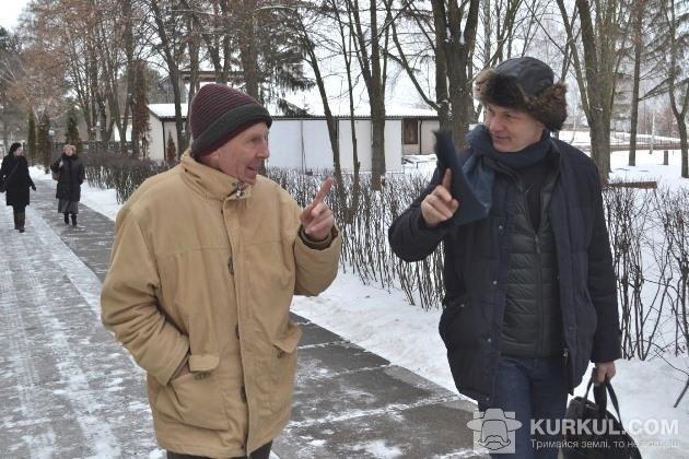 Моріс Мейер та експерт з біодинаміки Райнер Сакс
