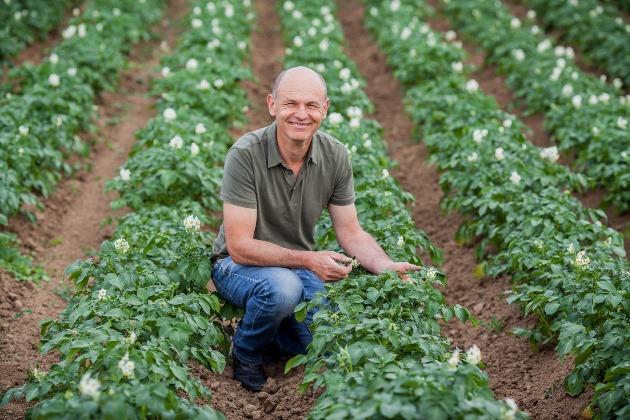 Моріс Мейер на картопляному полі