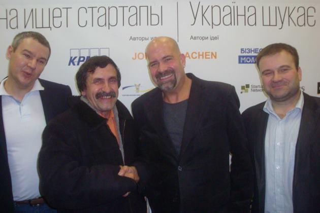 Сергій Шмуля та організатор проекту Джон Вон Ейк