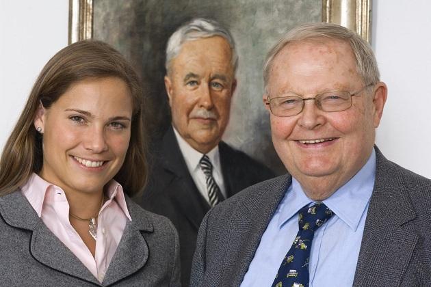 Гельмут Клаас із дочкою Катріною Клаас-Мюльгойзер, нинішньою головою спостережної ради