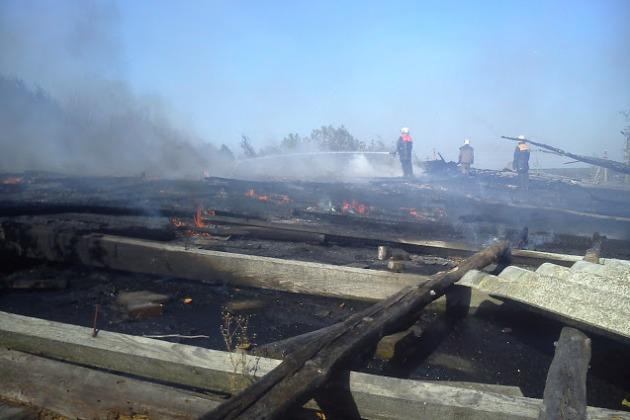 Пожежа на фермі