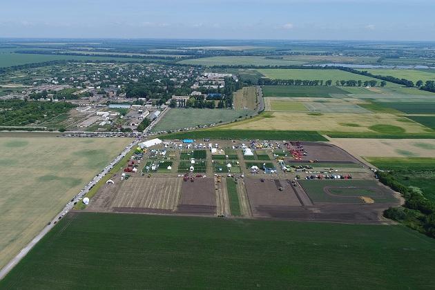 Фото заходу з висоти пташиного польоту
