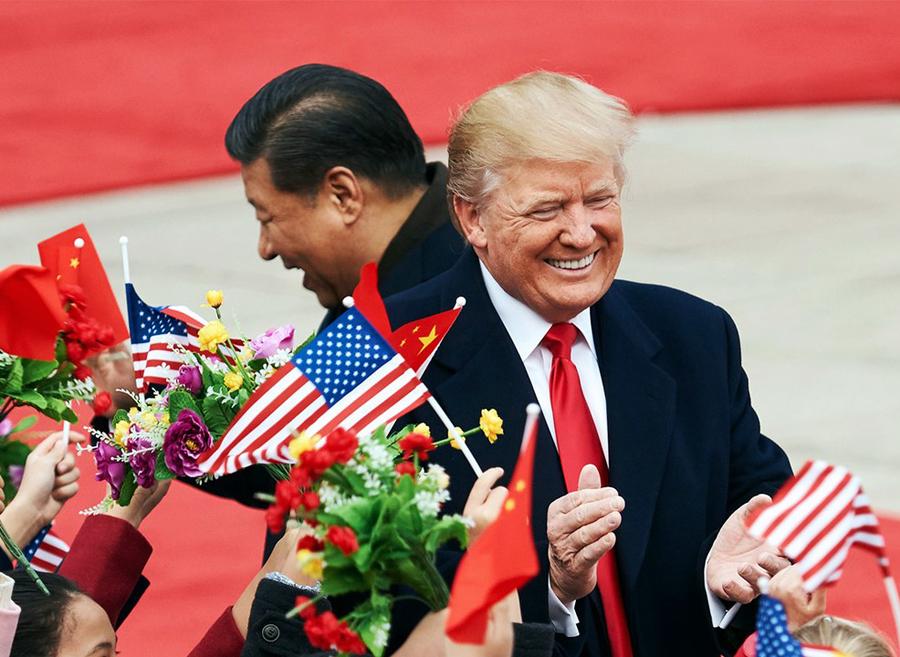 До́нальд Джон Трамп, президент США та Сі Цзіньпін, голова КНР