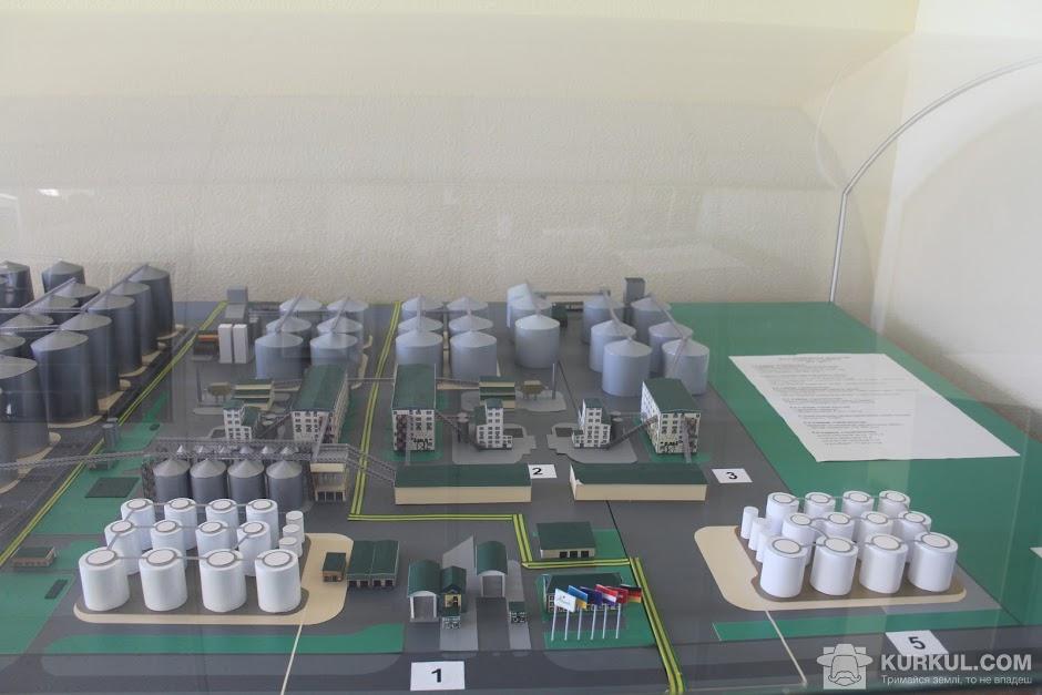 Макет олійноекстракційного комплексу заводу Allseeds і комплексу з перевалки 2012-2021 рр.