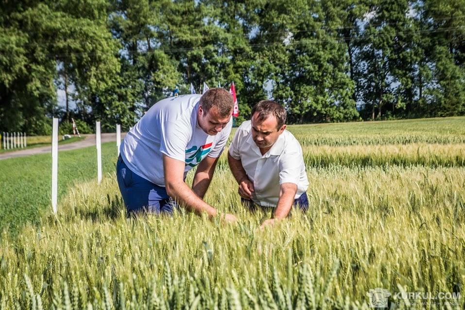 Представники спонсорів перевіряють посіви