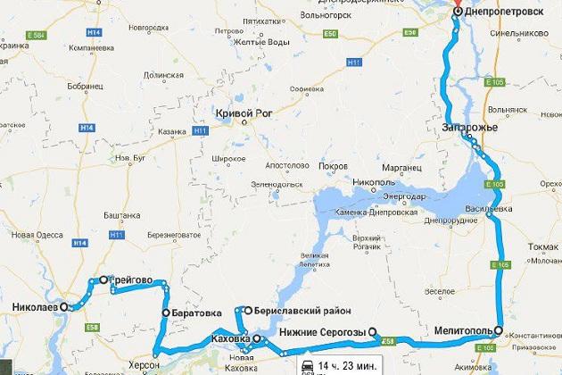 Карта маршруту АгроЕкспедиторів