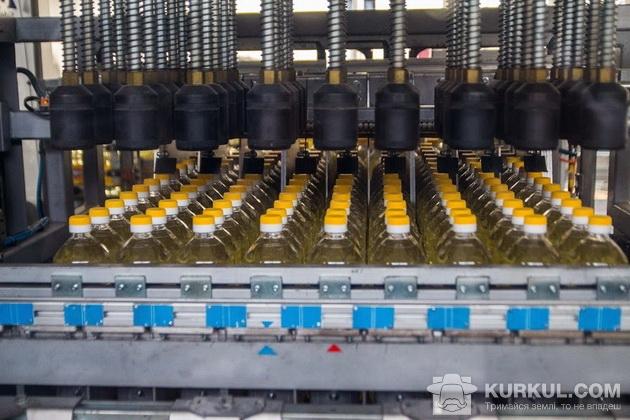 Розлив соняшникової олії