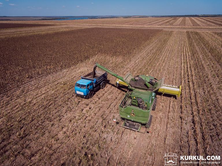 Розвантаження зернового бункера комбайну John Deere S670i