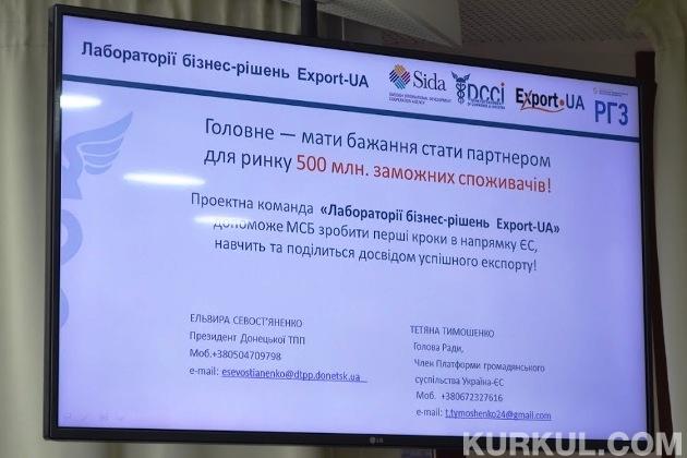 Презентація проекту «Лабораторія бізнес-рішень Export-UA»
