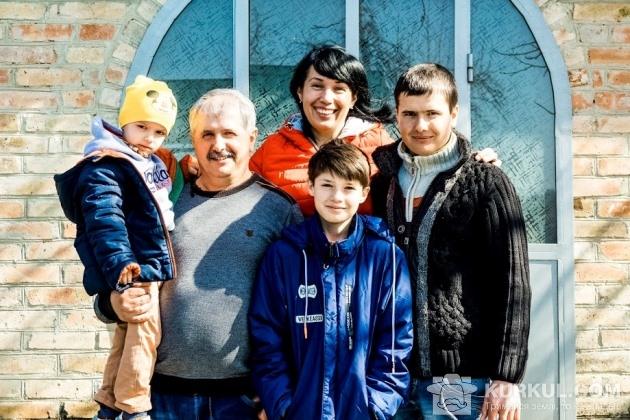 Юрій Мороз з родиною