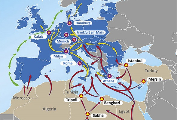 Карта міграції в ЄС
