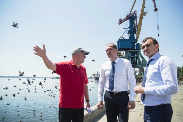 Олексій Павленко на Миколаївському портовому елеваторі компанії НІБУЛОН